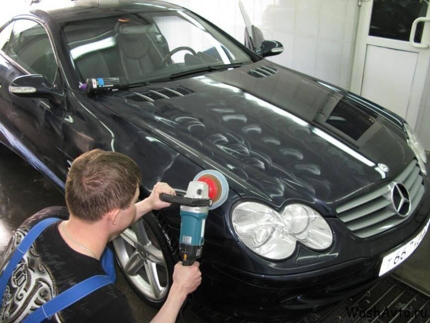 фото абразивная полировка авто