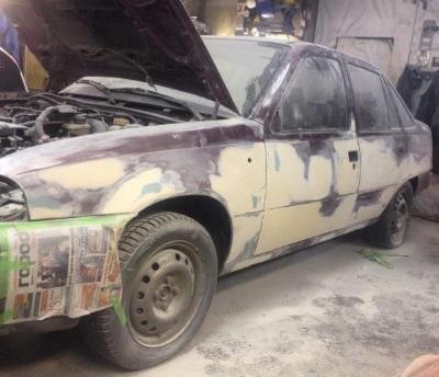 Фото авто перед ремонтом и покраской