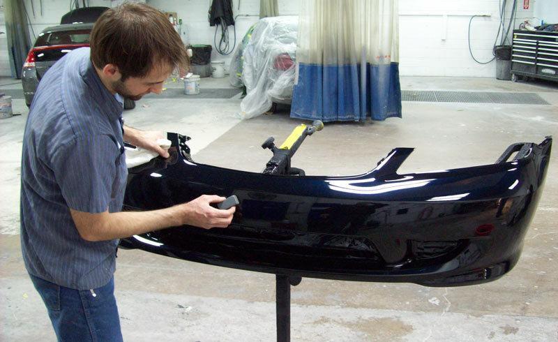 фото ремонт бампера авто