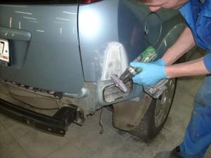 Фото процесса локального ремонта кузова
